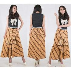 Toko Sb Collection Rok Maxi Akila Long Skirt Batik Coklat Lengkap