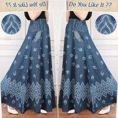 Jual Sb Collection Rok Maxi Jasmira Payung Jeans Long Skirt Biru Tua Sb Collection Ori