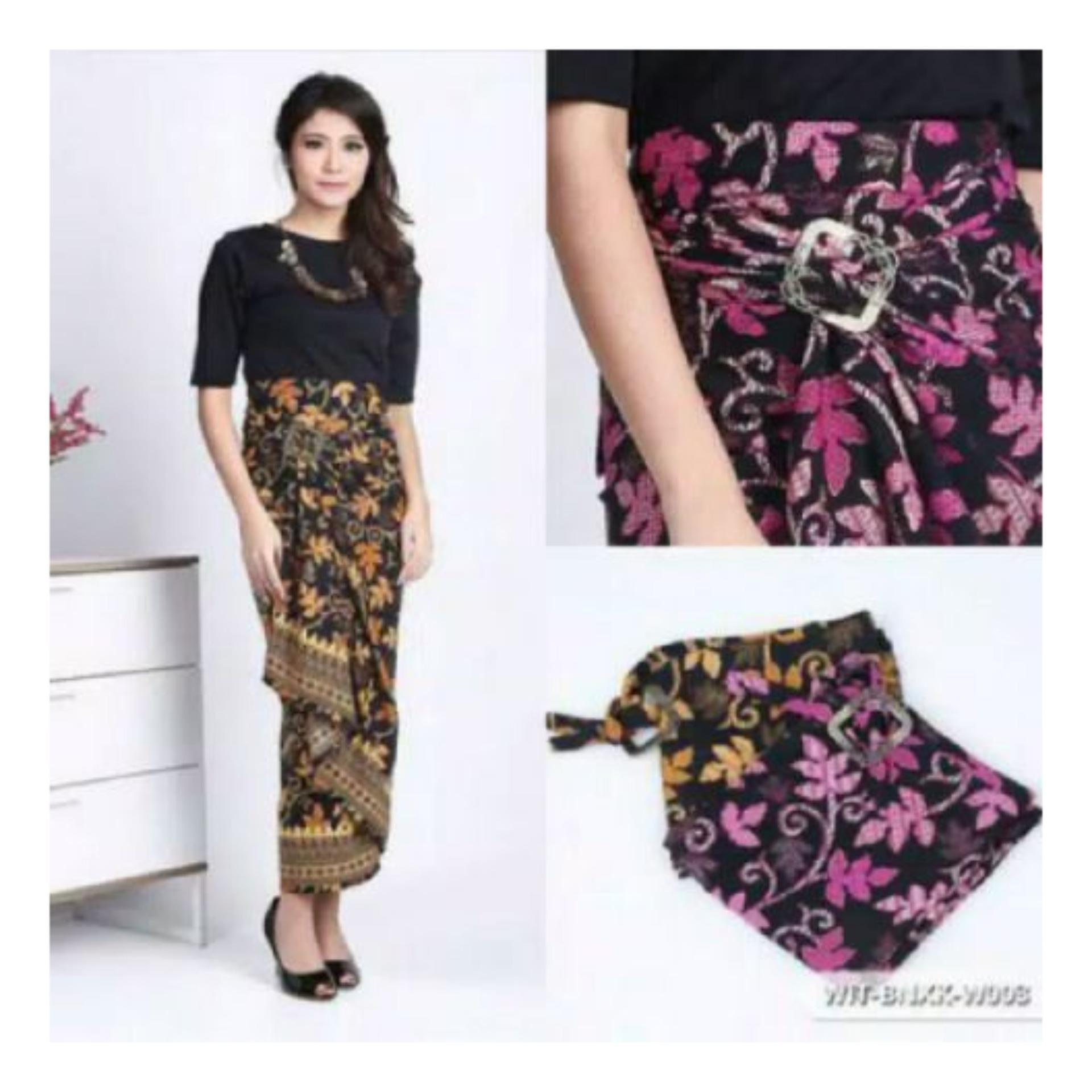 Price Checker SB Collection Rok Maxi Lilit Martina Batik Long Skirt-Ungu pencari harga -