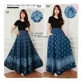 Ulasan Sb Collection Rok Maxi Trina Jeans Long Skirt 01 Biru Tua