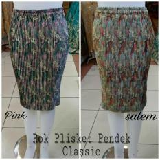 Rp 46.231. SB Collection Rok Pendek Chikita Midi Batik Plisket Jumbo Wanita IDR46231