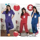 Ulasan Tentang Sb Collection Stelan Baju Tidur Triple Bear Piyama Jumbo Maroon