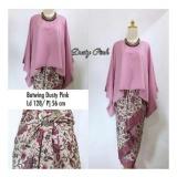 Spesifikasi Sb Collection Stelan Kebaya Astria Batik Blouse Kalong Dan Rok Lilit Jumbo Dusti Pink Lengkap Dengan Harga