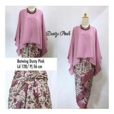 Harga Sb Collection Stelan Kebaya Astria Batik Blouse Kalong Dan Rok Lilit Jumbo Dusti Pink Terbaru