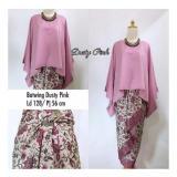 Toko Sb Collection Stelan Kebaya Batik Nicka Jumbo Blouse Kalong Dan Rok Lilit Dusty Pink Termurah Di Banten