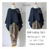 Sb Collection Stelan Kebaya Batik Nicka Jumbo Blouse Kalong Dan Rok Lilit Navi Sb Collection Diskon 40