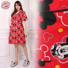 Sb Collecttion Baju Tidur Kitilove Piyama Import Daster Dress - Merah