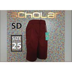 Promo Scholar Seragam Sekolah Celana Sd Pendek Merah Nomor 25 Scholar