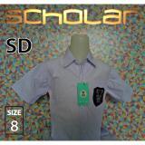 Spesifikasi Scholar Seragam Sekolah Kemeja Putih Lengan Pendek Sd Katun No 8