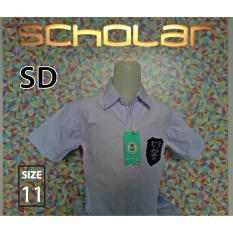 Scholar Seragam sekolah kemeja putih pendek katun SD no11