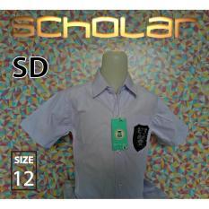 Scholar Seragam sekolah kemeja putih pendek katun SD no12