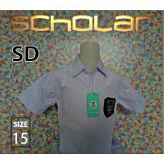 Scholar Seragam sekolah kemeja putih pendek katun sd no15