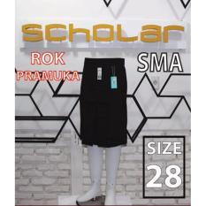 Scholar seragam sekolah rok pramuka SMA pendek biku 1 size 28