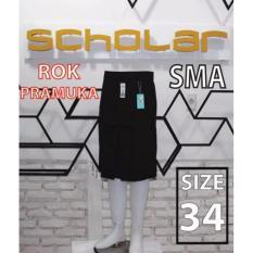 Scholar seragam sekolah rok pramuka SMA pendek biku 1 size 34