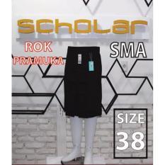 Scholar seragam sekolah rok pramuka SMA pendek biku 1 size 38