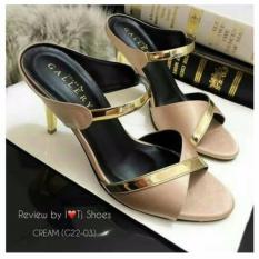 Spesifikasi High Heels Elegant Moca Emas Yg Baik