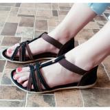 Review Sdl 34 Sandal Wanita Flat Tali Coklat Universal Di Indonesia