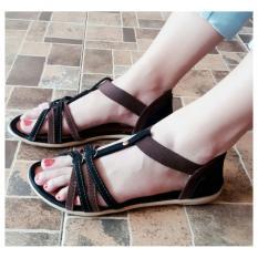 Toko Sdl 34 Sandal Wanita Flat Tali Coklat Murah Di Indonesia