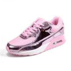 SDP Emas MAX AIR PELATIH Bernapas Sneakers Outdoor Menjalankan Sepatu untuk Wanita Pria Pasangan (Perak)-Intl