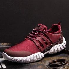 Promo Sdp Berkualitas Tinggi Pria Sepatu Kasual Pelatih Jogging Male Flats Sepatu Bernapas 4 Warna Merah Intl Oem