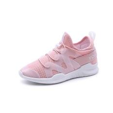 SDP Kedatangan Baru Gaya Korea Wanita Tenis Sepatu Bernapas Jaring untuk Wanita Sepatu Olahraga Super Light Renda-up Outdoor Wanita Athletic Sneakers (Merah Muda) -Intl