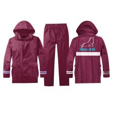 Jual Sea Lion Sea Lion Jas Hujan Stelan Jaket Celana B01 Maroon Xl Baru