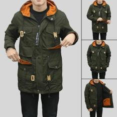 Sea7 Store - Jaket Parka Jumbo Big Size Forwad Pocket Premium Pria - Hijau Army