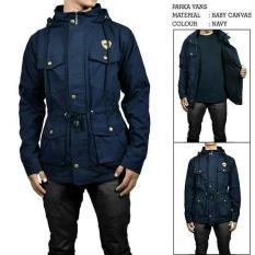Sea7 Store - Jaket Parka Jumbo Big Size Forwad Pocket Premium Pria - Navy