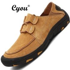 Seanut 2017 New Arrivals Men Genuine Leather Sport Shoes Outdoor Hiking Shoes Kasut Lelaki Di Luar