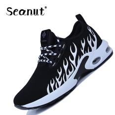 Seanut LACE UP Jogging Pelatih Bernapas Sneakers Pria LACE UP Basket Sepatu (Putih)-Intl