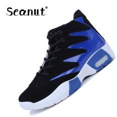 Seanut Men Sepatu Basket Pria Sneakers Outdoor Pria Athletic Sport Hombre Pria Basket Ankle Boots (Biru)-Intl