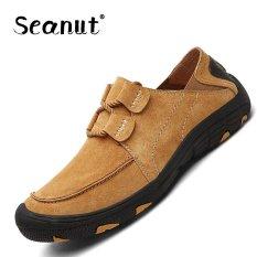 Toko Seanut Men Genuine Leather Sport Sepatu Outdoor Hiking Sepatu Kuning Intl Di Tiongkok
