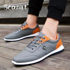 Spesifikasi Seanut Men S Sport Shoes Bernapas Sepatu Lari Abu Abu Terbaru