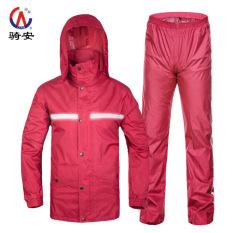 Qian Setelan Jas Hujan Java ME Orang Dewasa Reflektif Tahan Udara Sepeda Motor (Ungu (Bernapas Reflektif Strip)) baju Wanita Jaket Wanita