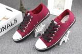 Ulasan Mengenai Sederhana Bernapas Laki Laki Kasual Sepatu Kain Sepatu Kanvas Arak Anggur Warna