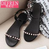 Berapa Harga Sandal Summer Sederhana Pijakan Empuk Flat Shoes Wanita Hitam Di Tiongkok