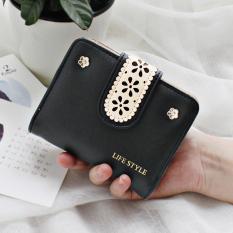 Korea Fashion Style perempuan paragraf pendek ritsleting dua kali lipat kecil nol dompet dompet (Semangka