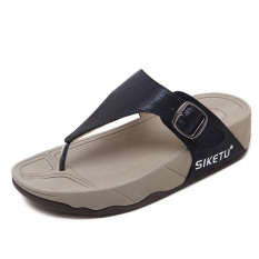 Ulasan Wanita Sederhana Sol Tebal Ringan Tahan Air Sandal Summer Jepit Kaki Sendal Tenga Hitam