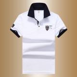 Toko Sederhana Warna Solid Musim Panas Pria Lengan Pendek T Shirt Kemeja Polo Putih Oem Tiongkok