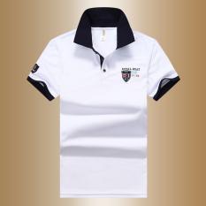 Jual Beli Sederhana Warna Solid Musim Panas Pria Lengan Pendek T Shirt Kemeja Polo Putih Tiongkok