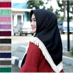 Segi empat Rumbai Dayak Rajut Hijab Rumbai Rajut Kerudung Rumbai Rajut