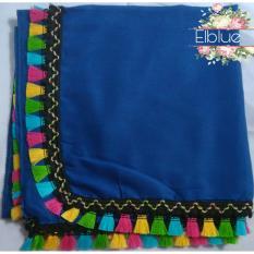 Review Segiempat Rainbow Tassel Hijab Pom Pom Segiempat Tasel Indonesia