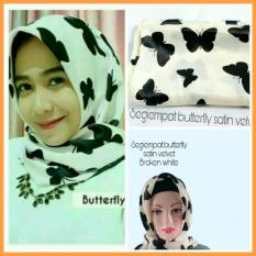 Tips Beli Segiempat Satin Butterfly Broken White Free Ciput Rajut