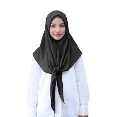 Segitiga Hijab Kerudung Instan - [Warna Hitam]