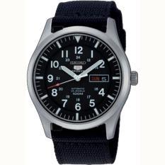 Spesifikasi Seiko 5 Automatic Jam Tangan Pria Hitam Tali Nylon 51Gzns Lengkap