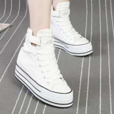 Sekarang Hitam Musim Semi atau Musim Panas Sepatu Angsa Emas Perkakas Sepatu Kerja Sepatu Kanvas (Putih)