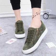 Sekarang Korea Modis Gaya Hitam Musim Semi Baru Sepatu Angsa Emas Sepatu Sepatu Sepatu Wanita (Hijau Tentara)