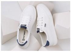 Sekarang Sepatu Semi Perempuan dan Model Musim Panas Sepatu Kets Putih Siswa (Putih)