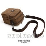 Model Selempang Kecil Kanvas Zou Lun Duo 5017 Coklat Tas Hp Accesoris Diikat Pinggang Tas Mini Mugubag Import Pouch Tas Pria Tas Wanita Terbaru