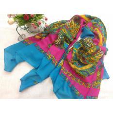 Selendang Sifon Shawl Selendang Zoya Zalora Selendang Pria Selendang Wanita Shawl Pria Pashmina Shawl Scarf Scarves Cantiki Premium Biru Pink